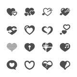 Значок дня сердца и валентинки установил 2, вектор eps10 Стоковое фото RF