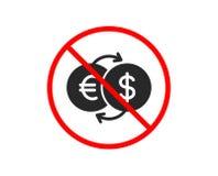 Значок обменом денег Валюта банка вектор иллюстрация штока