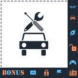 Значок обслуживания автомобиля плоско бесплатная иллюстрация