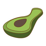 Значок овоща авокадоа иллюстрация штока
