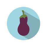 Значок овоща баклажана иллюстрация вектора