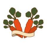 Значок овоща моркови иллюстрация штока