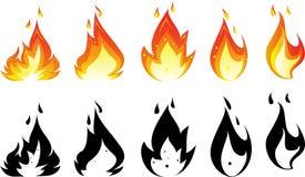 Значок огня для вас дизайн Стоковая Фотография
