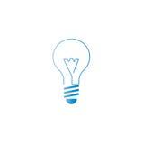 Значок логотипа лампы, альтернативная энергия, идея нововведения Стоковые Изображения