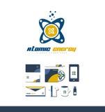 Значок логотипа атомной энергии атома Стоковые Фото