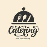 Значок логотипа вектора ресторанного обслуживании с каллиграфией написанной рукой современной бесплатная иллюстрация