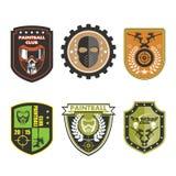 Значок логотипа команды пейнтбола Стоковая Фотография RF