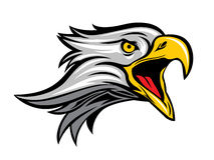 Значок логотипа орла головной Стоковое Изображение