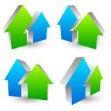 Значок, логотип, символ с 2 перекрывая формами дома - простое hous бесплатная иллюстрация