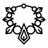 Значок ожерелья моды, стиль плана бесплатная иллюстрация