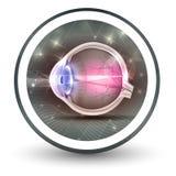 Значок округлой формы визирования глаза бесплатная иллюстрация