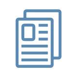 Значок документов Стоковые Фотографии RF