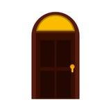 Значок дома двери изолированный стилем бесплатная иллюстрация