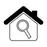значок дома изолированный страхованием Стоковое Изображение RF