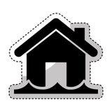 значок дома изолированный страхованием Стоковая Фотография