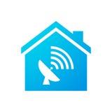 Значок дома с антенной Стоковое фото RF