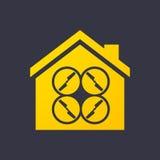 Значок дома с трутнем иллюстрация штока