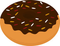 Значок донута, сладостная закуска изолированная на белизне Бесплатная Иллюстрация