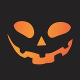 Значок оранжевой стороны тыквы праздника хеллоуина градиента плоский Стоковое фото RF