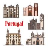 Значок ориентир ориентира перемещения португалки для дизайна перемещения бесплатная иллюстрация