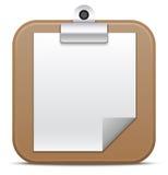 Значок доски сзажимом для бумаги. Иллюстрация вектора Стоковая Фотография RF