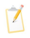 Значок доски сзажимом для бумаги также вектор иллюстрации притяжки corel Стоковое Фото