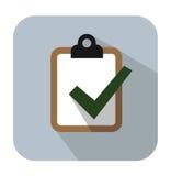 Значок доски сзажимом для бумаги Стоковые Изображения