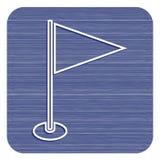 Значок отметки флага Стоковые Изображения RF