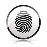 Значок отпечатка пальцев на белой предпосылке Стоковые Фотографии RF