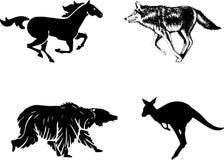 Значок лошади стиля Стоковое Изображение