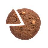 Значок долевой диограммы сделанный от изолированного печенья, на белой предпосылке Стоковая Фотография RF