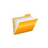 Значок папки вектора желтый Стоковые Изображения