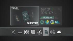 Значок пасспорта для содержания перемещения Применение цифрового дисплея бесплатная иллюстрация