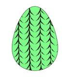 Значок пасхального яйца украшенный с красивой текстурой веревочек плоско вектор иллюстрация вектора