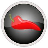 Значок перца Chili Стоковые Изображения RF