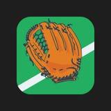 Значок перчаток бейсбола Стоковое Изображение