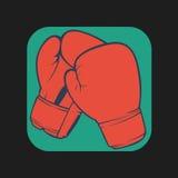Значок перчаток бокса Стоковые Изображения RF