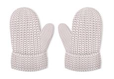 Значок перчаток зимы, реалистический стиль иллюстрация штока