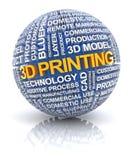 значок печатания 3d иллюстрация вектора