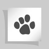 Значок печати лапки Стоковая Фотография