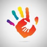 Значок печати руки Стоковое фото RF