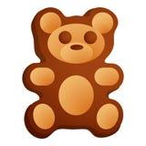 Значок печенья медведя, стиль мультфильма бесплатная иллюстрация