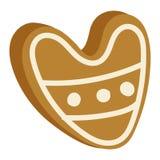 Значок печенья рождества изолированный тортом иллюстрация вектора