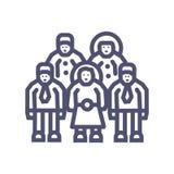 Значок пиксела вектора 64X64 группы или иконы команды дела идеальный идеальный с вектором человека и женщины иллюстрация штока