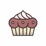 Значок пирожных Стоковое Фото