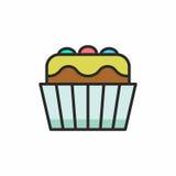 Значок пирожных Стоковая Фотография RF