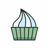 Значок пирожных Стоковые Изображения