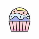 Значок пирожных Стоковое Изображение