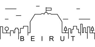 Значок плана Бейрута Смогите быть использовано для сети, логотипа, мобильного приложения, UI, UX иллюстрация вектора