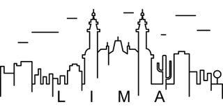 Значок плана Лимы Смогите быть использовано для сети, логотипа, мобильного приложения, UI, UX иллюстрация штока